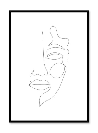 Modern minimalist abstract poster by Opposite Wall with Rosy Cheek design by Shatha Al Dafai