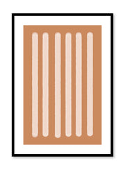 Minimalist design poster by Opposite Wall with abstract orange rectangle shapes