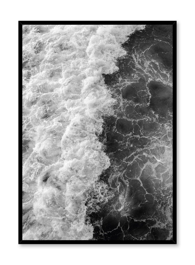 Modern minimalist poster by Opposite Wall with Emerald waters photography in black and white