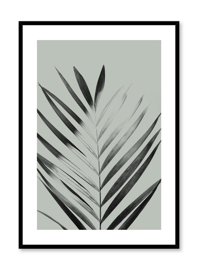 Modern minimalist poster by Opposite Wall with Sunlight palm leaf photo art in green