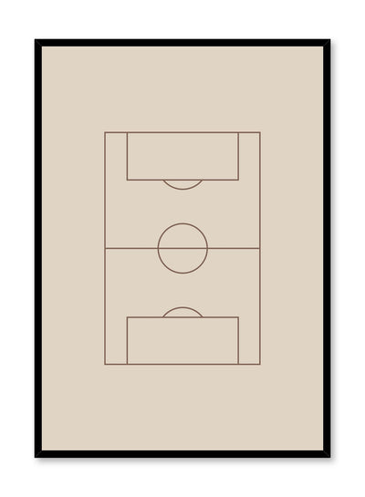 Minimalist design poster by Opposite Wall with Goal abstract graphic design soccer field