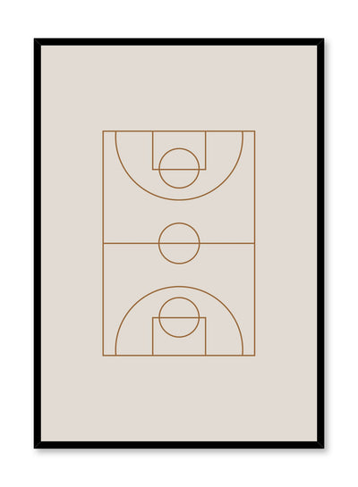 Minimalist design poster by Opposite Wall with Beige Mood abstract graphic design basketball court
