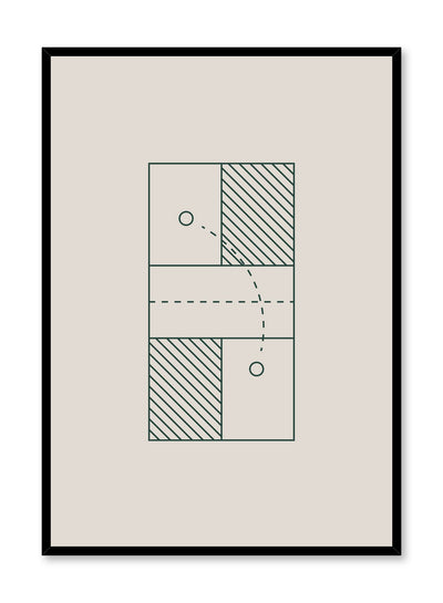 Minimalist design poster by Opposite Wall with Badminton Days abstract graphic design of badminton court