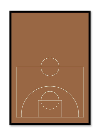 Minimalist design poster by Opposite Wall with Courtside abstract graphic design of basketball court