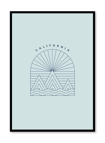 Minimalist design poster by Opposite Wall with Cali Baby abstract graphic design of California Landscape