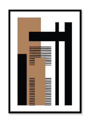 Modern minimalist poster by Opposite Wall with abstract design of Layout by Toffie Affichiste
