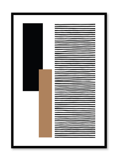 Modern minimalist poster by Opposite Wall with abstract design poster Organized by Toffie Affichiste
