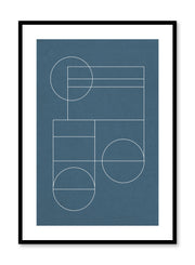 Modern minimalist poster by Opposite Wall with abstract design of Blueprint by Toffie Affichiste