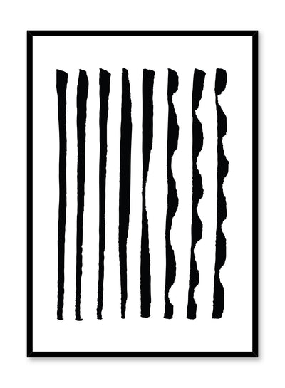 Modern minimalist poster by Opposite Wall with abstract design of Different Together by Toffie Affichiste