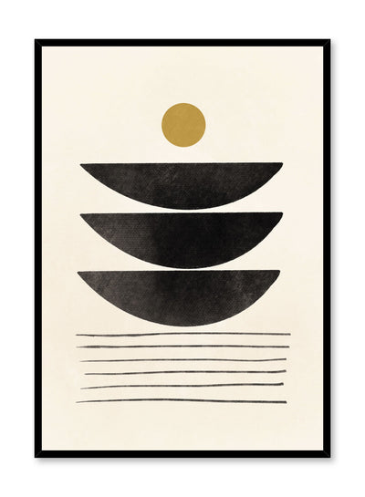 Modern minimalist poster by Opposite Wall with abstract design of Stacks by Toffie Affichiste