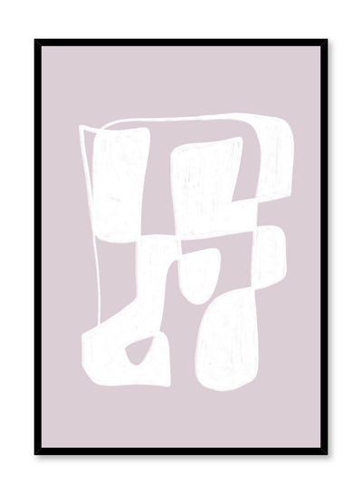 Modern minimalist poster by Opposite Wall with abstract design of Cotton Candy by Toffie Affichiste