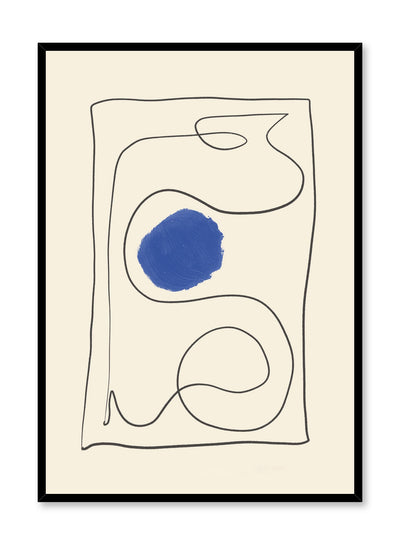 Modern minimalist poster by Opposite Wall with abstract design of Snakes and Ladders by Toffie Affichiste
