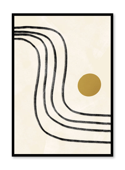 Modern minimalist poster by Opposite Wall with abstract design of Sunshine Road by Toffie Affichiste