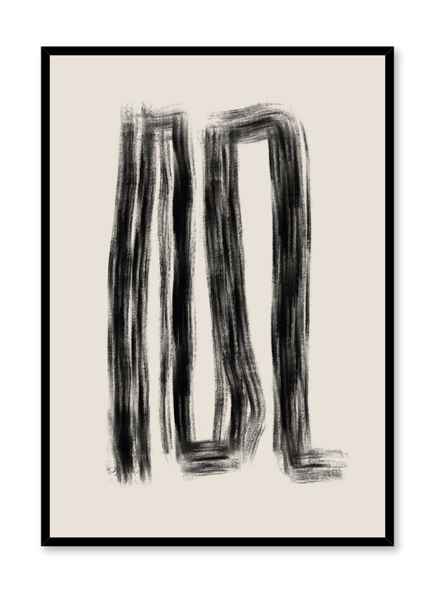 Modern minimalist poster by Opposite Wall with abstract design of Dead Ends by Toffie Affichiste