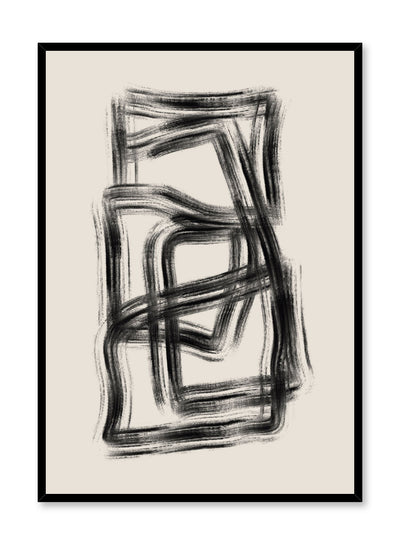 Modern minimalist poster by Opposite Wall with abstract design of Underground by Toffie Affichiste