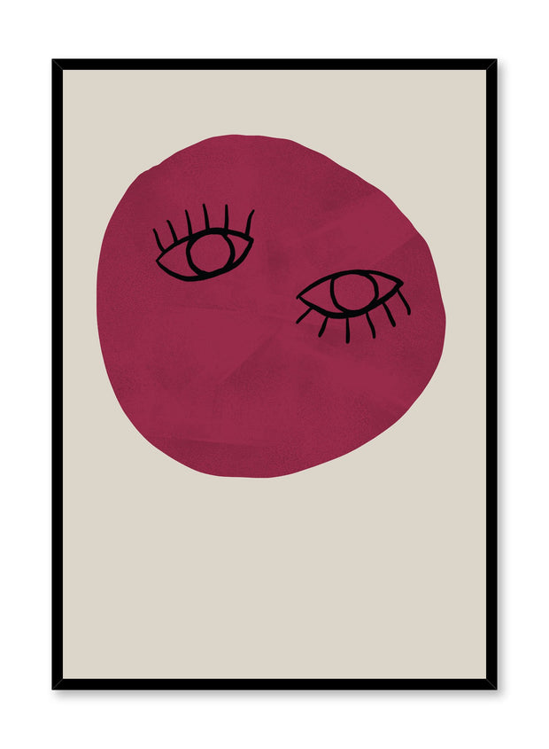 Modern minimalist poster by Opposite Wall with abstract design poster of Unconventional Beauty by Toffie Affichiste