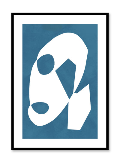 Modern minimalist poster by Opposite Wall with abstract design of Blue Palette by Toffie Affichiste