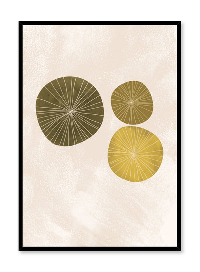Modern minimalist poster by Opposite Wall with abstract design Water Lilies by Toffie Affichiste