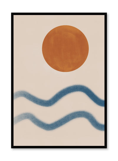 Modern minimalist poster by Opposite Wall with abstract design of Sunset at the Beach by Toffie Affichiste