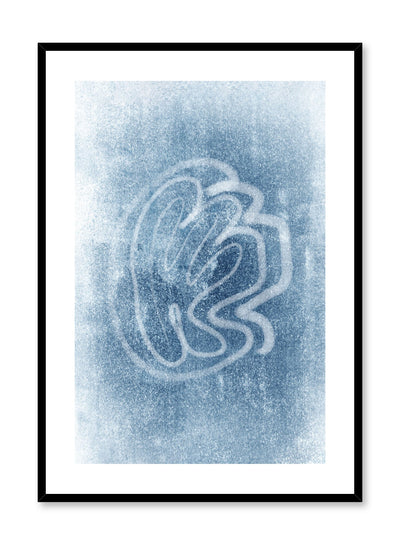 Modern minimalist poster by Opposite Wall with abstract design of Frostbite by Toffie Affichiste