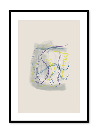 Modern minimalist poster by Opposite Wall with abstract design of Kelp by Toffie Affichiste