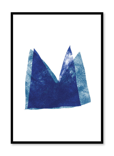 Modern minimalist poster by Opposite Wall with abstract design of Paper Crown by Toffie Affichiste