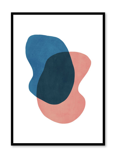 Modern minimalist poster by Opposite Wall with abstract design of False Colour by Toffie Affichiste