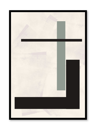 Modern minimalist poster by Opposite Wall with abstract design of Modern Elevator by Toffie Affichiste