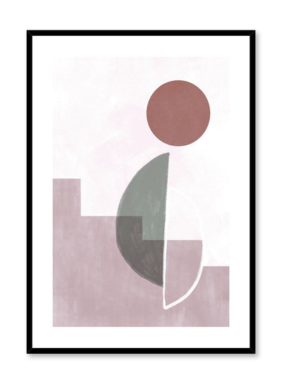 Modern minimalist poster by Opposite Wall with abstract design of City Nights by Toffie Affichiste