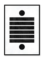 Modern minimalist poster by Opposite Wall with abstract design of Dominos by Toffie Affichiste