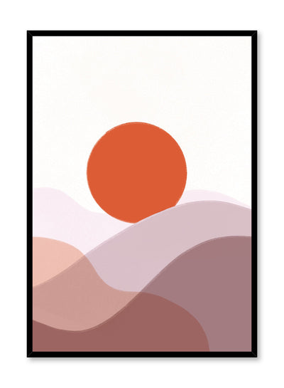 Modern minimalist poster by Opposite Wall with abstract design of Sand Dunes by Toffie Affichiste