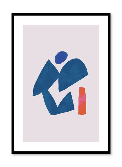 Modern minimalist poster by Opposite Wall with abstract design of Deity by Toffie Affichiste