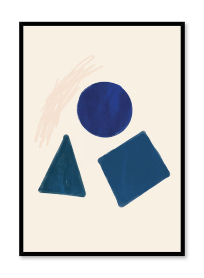 Modern minimalist poster by Opposite Wall with abstract design of Go Figure by Toffie Affichiste