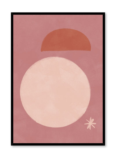 Modern minimalist poster by Opposite Wall with abstract design of Dazzle by Toffie Affichiste