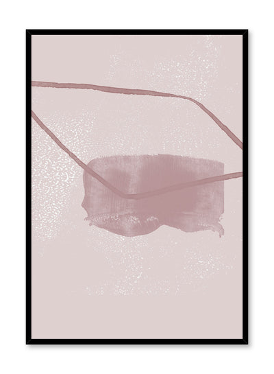 Modern minimalist poster by Opposite Wall with abstract design of Slumber by Toffie Affichiste
