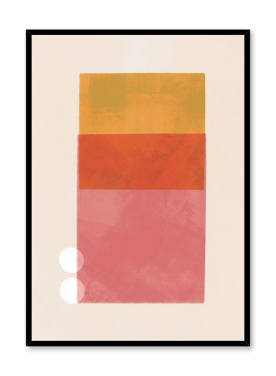 Modern minimalist poster by Opposite Wall with abstract design of Townhouse by Toffie Affichiste