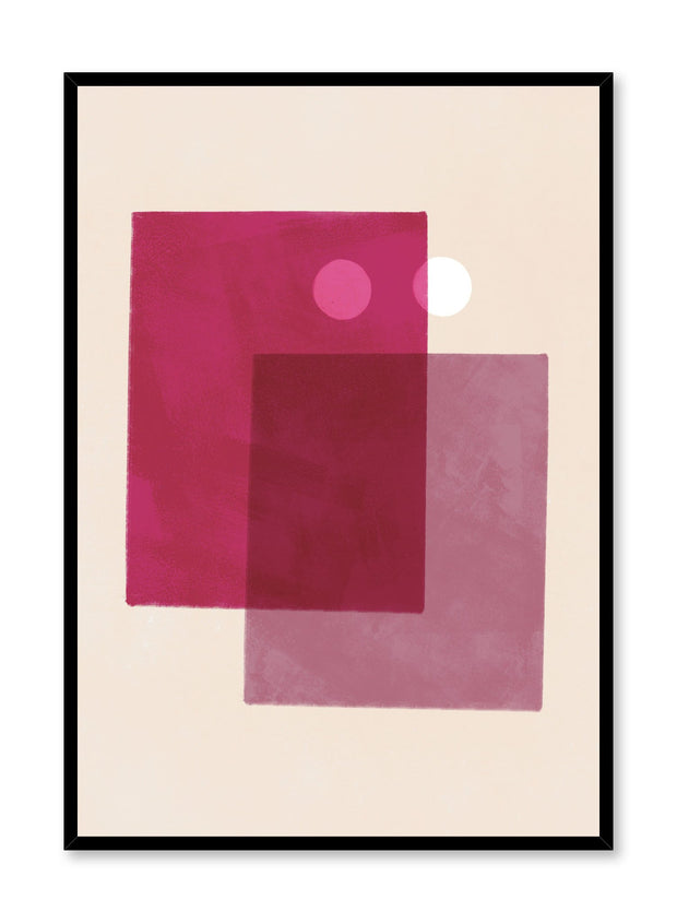 Modern minimalist poster by Opposite Wall with abstract design of Sandy by Opposite Wall