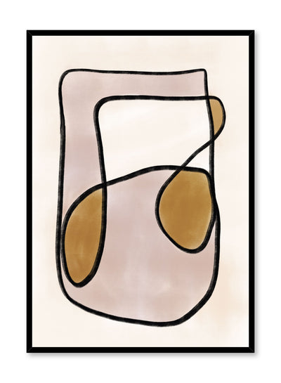 Modern minimalist poster by Opposite Wall with abstract design of Music In Me by Toffie Affichiste