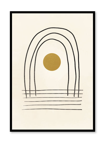 Modern minimalist poster by Opposite Wall with abstract design of Rainbow Room by Toffie Affichiste