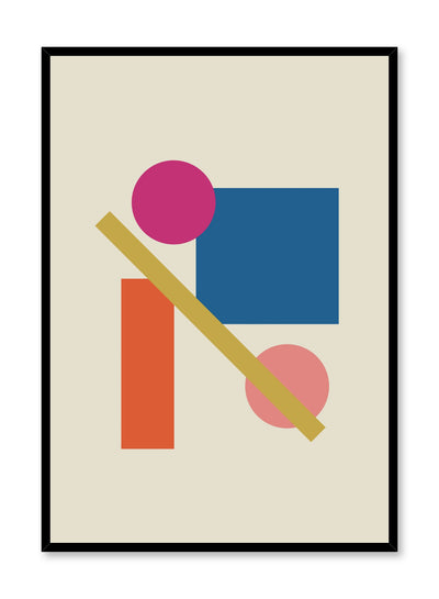 Modern minimalist poster by Opposite Wall with abstract design of Ladder by Toffie Affichiste