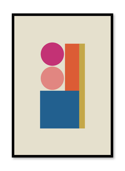 Modern minimalist poster by Opposite Wall with abstract design of Vibrant Building by Toffie Affichiste