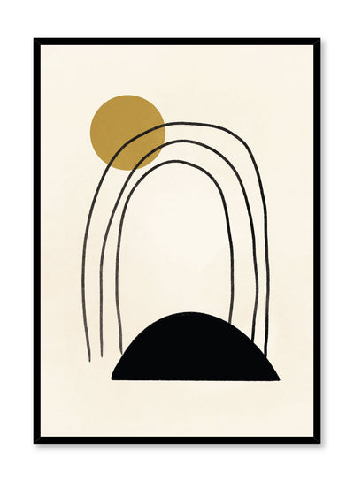 Modern minimalist poster by Opposite Wall with abstract design of Arch by Toffie Affichiste