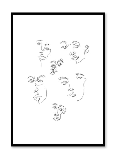 Modern minimalist poster by Opposite Wall with abstract line art illustration of Individuality