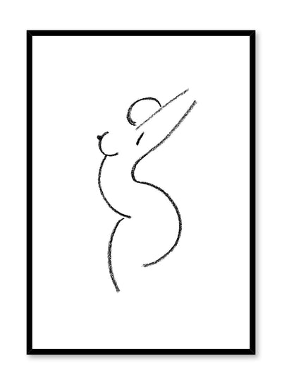 Modern minimalist poster by Opposite Wall with abstract line art illustration of Feminine Curves