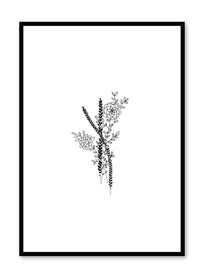 Modern minimalist poster by Opposite Wall with abstract line art illustration of Arrangement