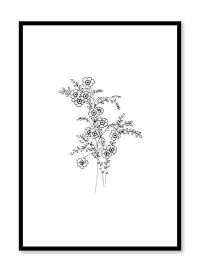 Modern minimalist poster by Opposite Wall with abstract line art illustration of Petite Petals