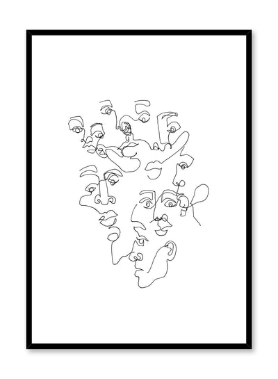 Modern minimalist poster by Opposite Wall with abstract line art illustration of One in the Same