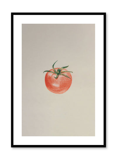 Minimalist poster by Opposite Wall with tomato food illustration