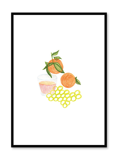 Minimalist poster by Opposite Wall with Juiced food illustration
