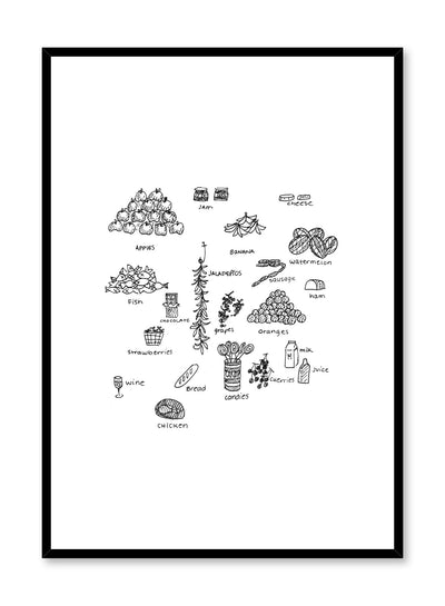 Minimalist poster by Opposite Wall with At The Market illustration